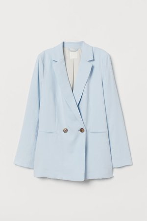 Double-breasted Jacket - Light blue - Ladies   H&M US