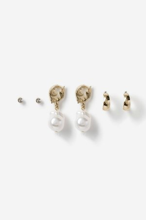 **Pearl and Scroll Earrings | Topshop