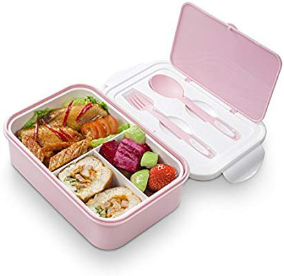 Amazon.com: Bento Lunch Box - 3 Tier Box Containers - FDA Approved, BPA Free Meal Box For Adults & Kids(Pink): Kitchen & Dining