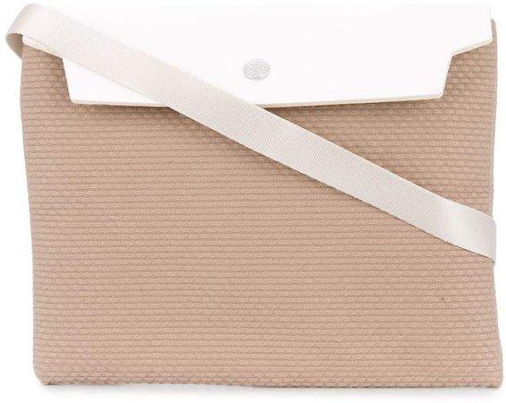 Cabas flap shoulder bag