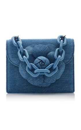 Tro Mini Denim Shoulder Bag By Oscar De La Renta | Moda Operandi