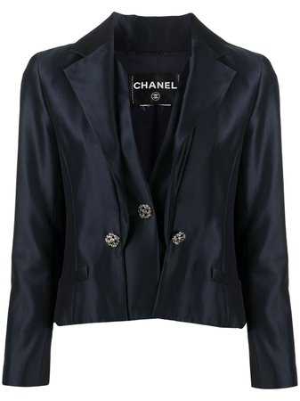 Chanel, notched lapels double-breasted jacket
