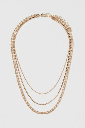 Three-strand necklace - Gold-coloured - Ladies | H&M GB