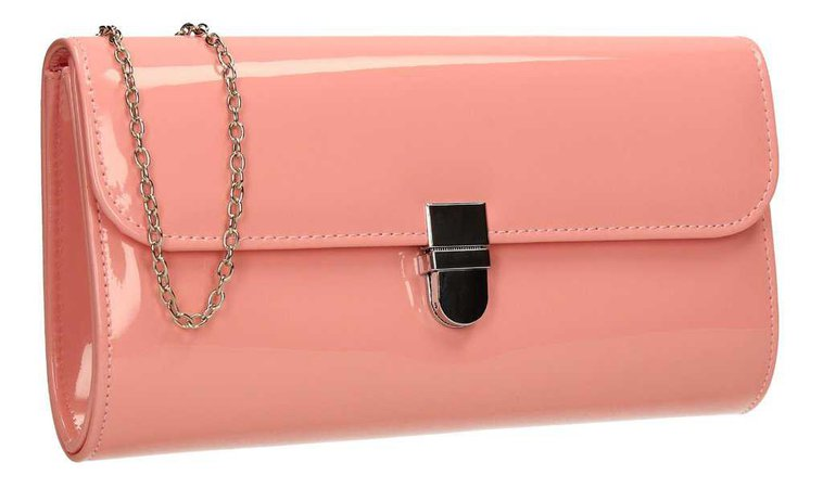 Roxy Clutch (Peach/Coral)