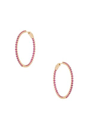 Small Pink & Gold Hoops