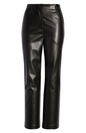 Lulus It's a Vibe Crop Flare Faux Leather Pants | Nordstrom