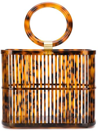 Coco mini round top handle basket bag