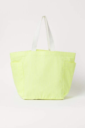 Large Canvas Shopper - Yellow