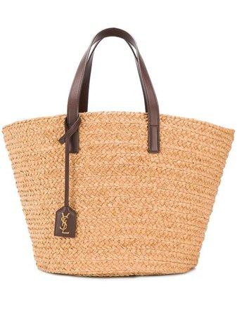 Shop Saint Laurent medium Panier tote bag with Express Delivery - Farfetch