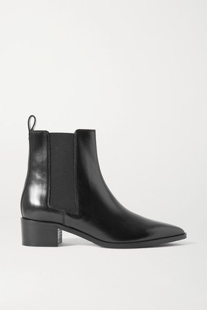 Lou Leather Chelsea Boots - Black
