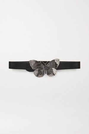 Black Embellished leather belt | Paco Rabanne | NET-A-PORTER