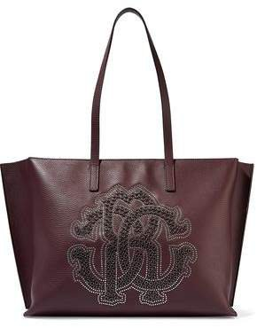Studded Pebbled-leather Tote