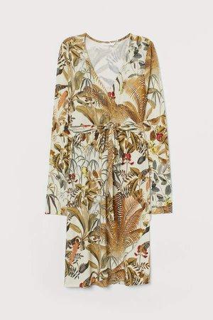 MAMA Wrap Dress - Beige