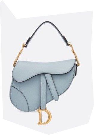 dior saddle blue grey bag
