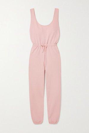 Net Sustain Brushed Organic Cotton-jersey Jumpsuit - Pink