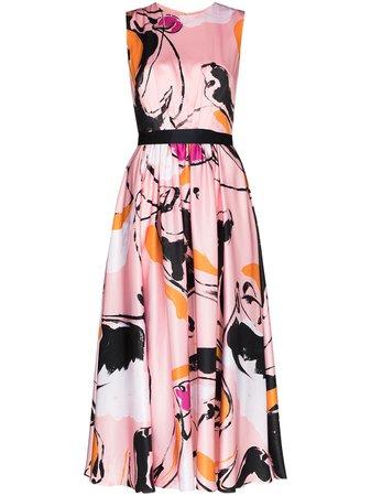 Roksanda Tibi Dance-print Midi Dress - Farfetch