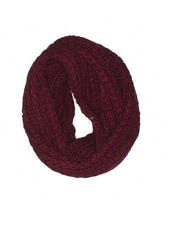 Cranberry Knit Cowl Scarf