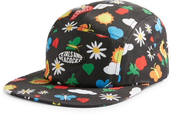 Petals And Peacocks Flourish Camper Hat