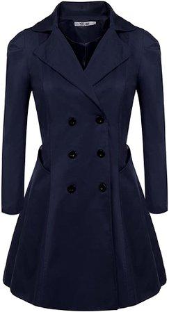 Amazon.com: etuoji Womens Trench Coat Long Black Coat wrap Coat Trench Coats: Clothing