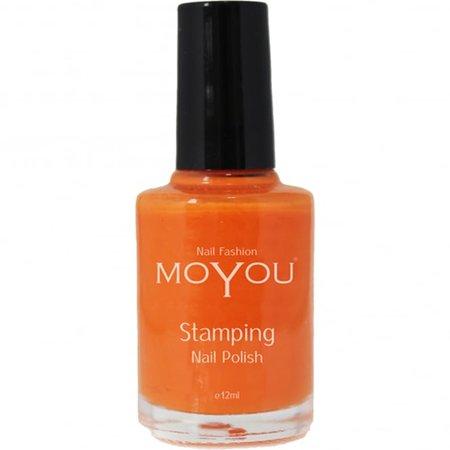 Moyou Stamping Nail Art - Special Nail Polish - California Orange 12ml