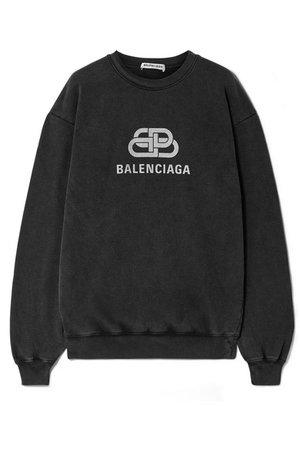 Balenciaga   Oversized printed cotton-jersey sweatshirt   NET-A-PORTER.COM