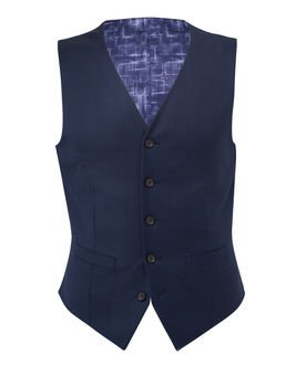 slim fit navy vest