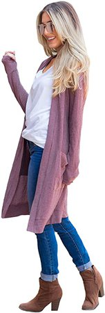 Women's Scarlett Cardigan (XL, Mauve) at Amazon Women's Clothing store