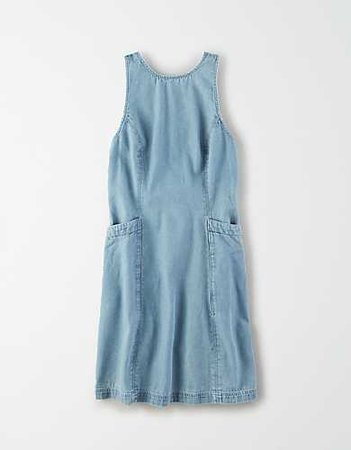 AE Denim High Neck Mini Dress