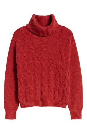 BP. Cable Stitch Turtleneck Sweater | Nordstrom