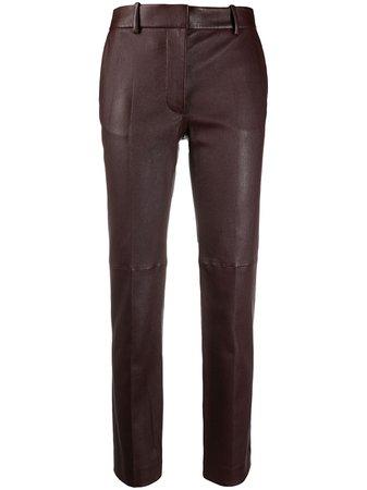 Joseph lambskin straight-leg trousers - FARFETCH