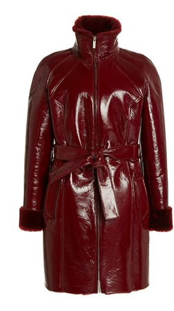 Saks Potts Fusun Coated Shearling Coat