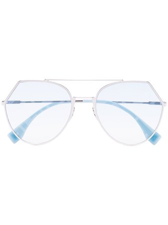 Fendi Eyewear angular-frame Sunglasses - Farfetch