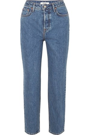 GRLFRND | Devon organic high-rise straight-leg jeans | NET-A-PORTER.COM