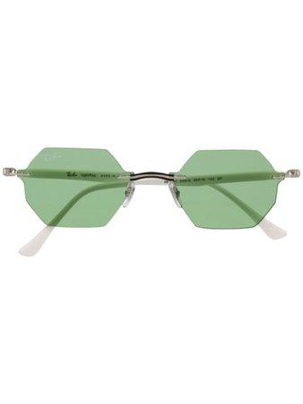 Ray-Ban geometric-frame Sunglasses - Farfetch