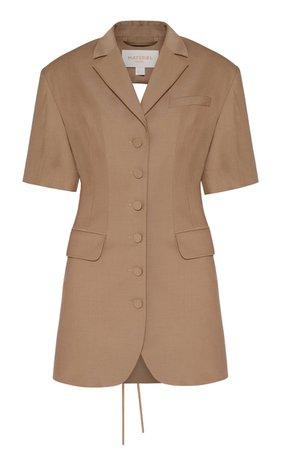 Wool-Blend Mini Blazer Dress By Matériel | Moda Operandi