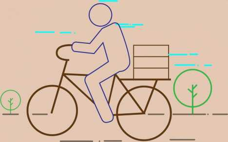 Man riding bicycle theme colored flat sketch vectors stock in format for free download 2.42MB