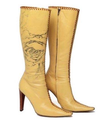 Roberto Cavalli Beige Boots (F/W, 2001)