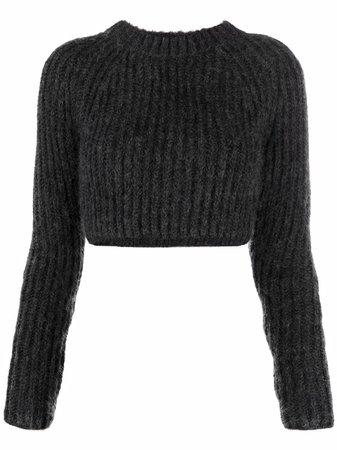 Fendi ribbed-knit Cropped Jumper - Farfetch