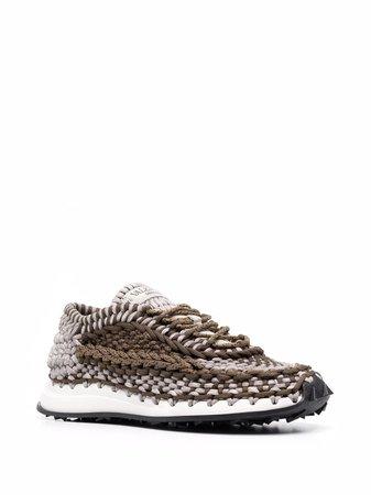 Valentino Garavani crochet low-top sneakers - FARFETCH