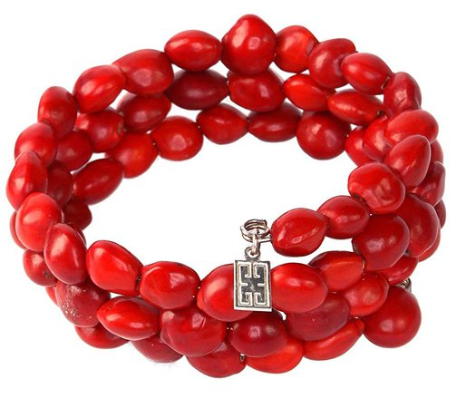 Amazon.com: Peruvian Gift Wrap Bracelet for Women - Meaningful Good Luck, Properity, Love, Happiness Huayruro Red Seed Beads, Adjustable Wrap - Natural Handmade Ecofriendly Jewelry by Evelyn Brooks: Handmade