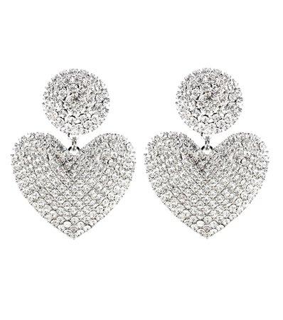 Embellished Heart Earrings - Alessandra Rich | Mytheresa