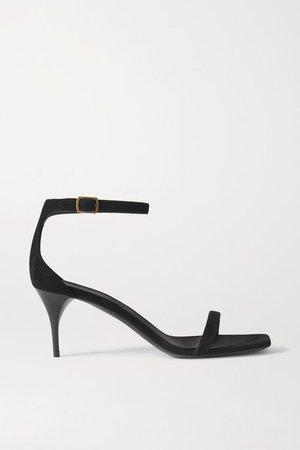Lexi Suede Sandals - Black