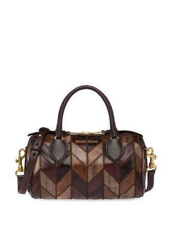 Miu Miu Patchwork Tote Bag - Farfetch
