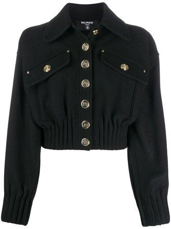 Balmain Cropped Wool Jacket - Farfetch