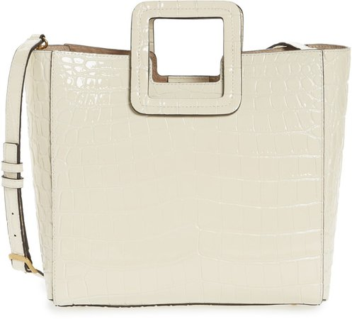 Shirley Croc Embossed Leather Tote