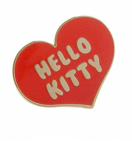 Hello Kitty Heart Enamel Pin from Punky Pins