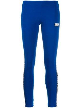 Blue Adidas Side Logo Leggings   Farfetch.com