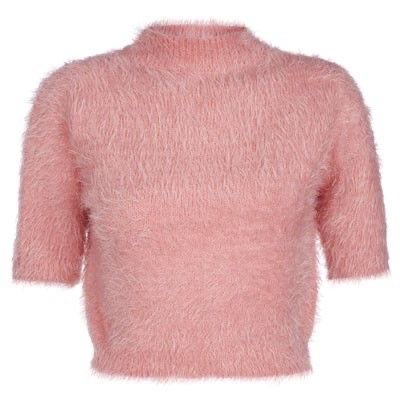 Pink Fuzzy Turtleneck Top