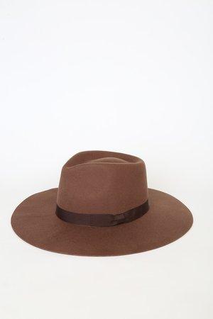 San Diego Hat Co. - Brown Hat - Wool Wide Brim Hat - Lulus
