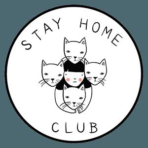 "Stay Home Club Print - 12"" x 18"""